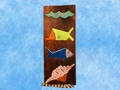 Tropical Fish Sea Shell Relief 20 Carved Painted Oceanic Art