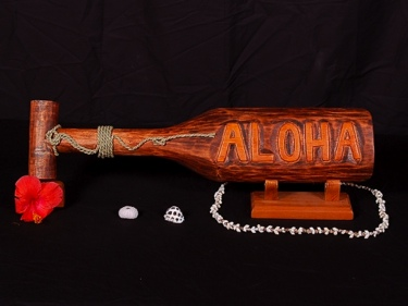 Paddle Aloha Design 22 Antique Finish Hawaii Decor