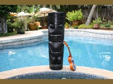 Easter Island Tiki Black Tiki Totem 40 Interior Decor