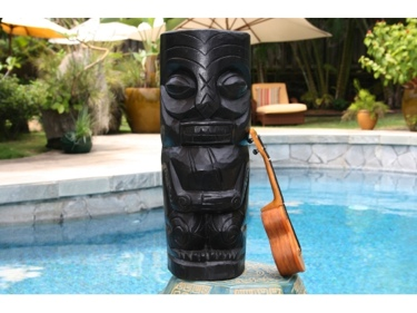 Easter Island Tiki Black Tiki Totem 20 Interior Decor