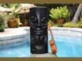 Maori Black Tiki Totem 20 Pop Art Tiki Decor
