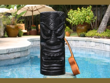 Big Kahuna Tiki Black Tiki Totem 20 Tiki Decor