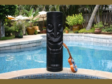 Chief Tiki Black Tiki Totem 40 Hawaiian Tiki Decor