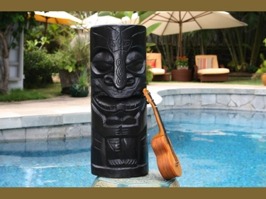 Chief Tiki Black Tiki Totem 20 Hawaiian Tiki Decor