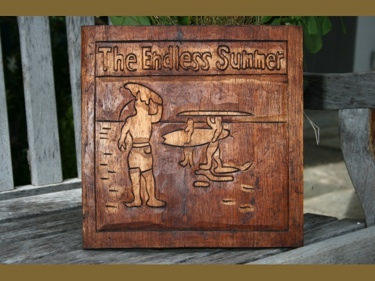 Endless Summer Hand Carved Relief Surf Decor