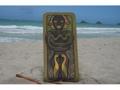 The Hawaiian Chief Human Strength 30 X 15 Primitive Tiki Art