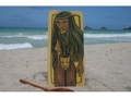 Polynesian Cat Woman 30 X 15 Primitive Tiki Art