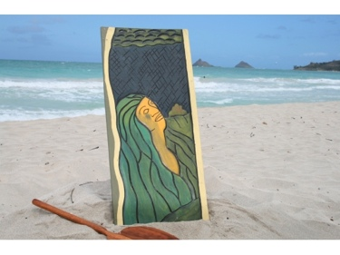 The Pele Myth 30 X 15 Hawaiian Mythology