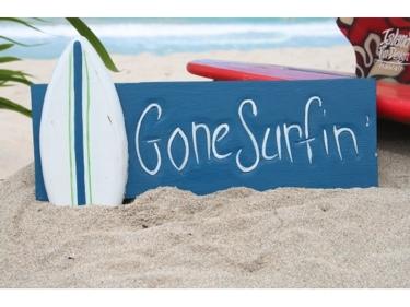Gone Surfin' Surf Sign 14 Surf Decor