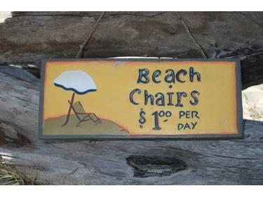 Beach Chairs $1 Per Day Beach Sign 14 Beach Decor