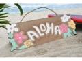 Vintage Hawaii Aloha Flowers Tiki Bar Sign 12 Island Decor