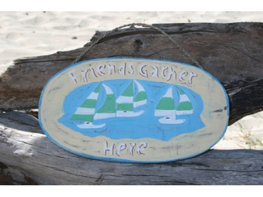 Lake Home Decor on Friends Gather Here Lake Sign 16 Lake House Decor  Beach House Signs