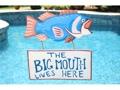 The Big Mouth Lives Here Lake House Sign 18 Coastal Decor