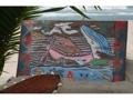 Hawaiian Scene Painted Storyboard 20 X 15 Wooden Relief