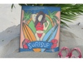 Surf'S Up Painted Surf Storyboard 14 X 14 Surf Decor
