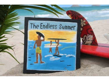 Endless Summer Carved Painted 12 Relief Surf Decor
