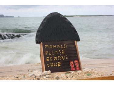 Please Remove Your Slippers Hut Sign 12 Hawaii Gifts