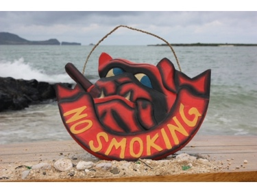 No Smoking Pirate Bull Dog Sign 14 Pirate Decor