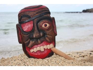 All Good Pirate Head W Cigar Wall Plaque 12 Pirate Decor