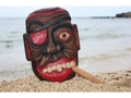 All Good Pirate Head W Cigar Wall Plaque 12 Pirate Decor