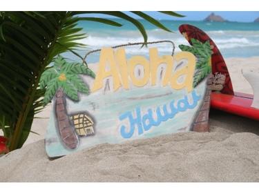Aloha Hawaii Vintage Palm Sign 20 Tropical Decor