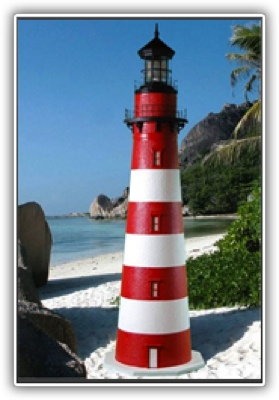 3 Foot Assateague Deluxe Stucco Lighthouse