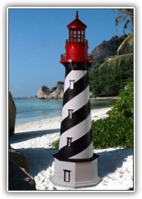 5 Foot St. Augustine Deluxe Stucco Lighthouse
