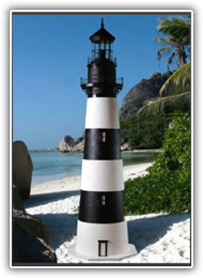 3 Foot Bodie Deluxe Stucco Lighthouse