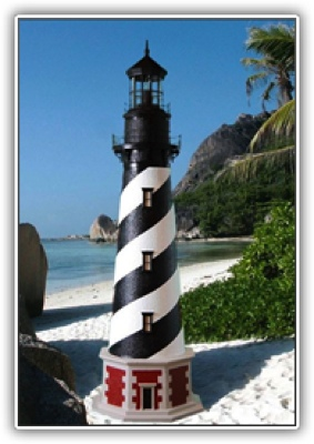 5 Foot Cape Hatteras Deluxe Stucco Lighthouse