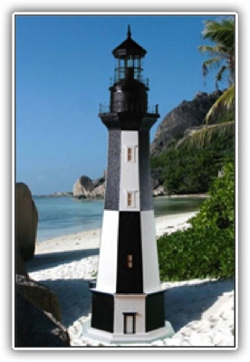 5 Foot Cape Henry Deluxe Stucco Lighthouse