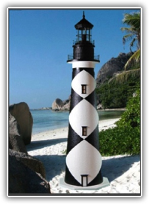 5 Foot Cape Lookout Deluxe Stucco Lighthouse