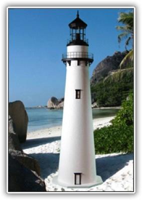 3 Foot Fenwick Deluxe Stucco Lighthouse