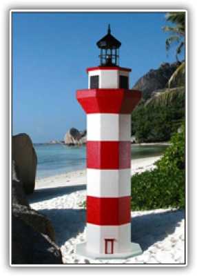 5 Foot Hilton Head Deluxe Stucco Lighthouse