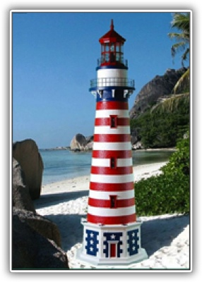 5 Foot Patriot Deluxe Stucco Lighthouse