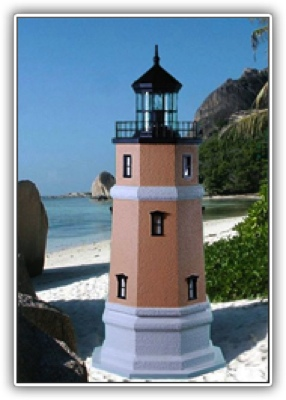 5 Foot Split Rock Deluxe Stucco Lighthouse