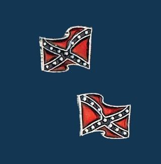 Rebel Flag Earrings