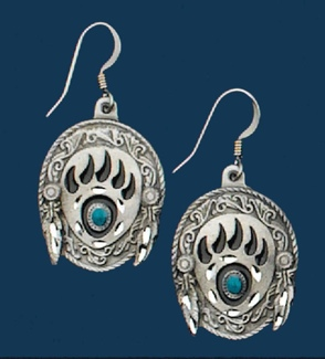 Bear Claw Earrings/Turquoise