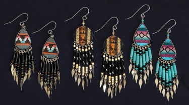 Hand Painted Earrings Assorted Styles