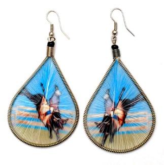 Hand Made Threaded Earrings / BULLRIDER