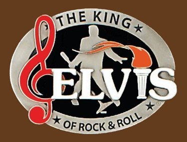 The King of Rock & Roll Licensed Belt Buckle 3-1/4 x 2-1/2