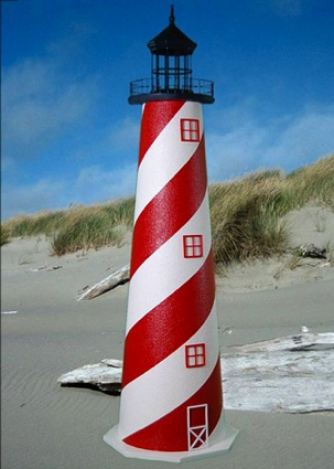 4 Foot American E-Line Stucco Lighthouse
