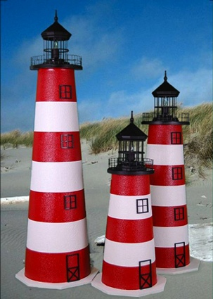 4 Foot Assateague E-Line Stucco Lighthouse