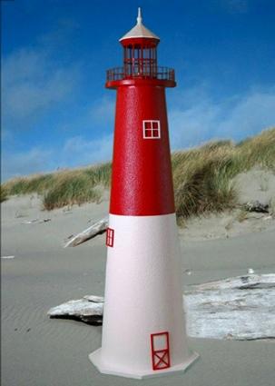 4 Foot Barnegat E-Line Stucco Lighthouse