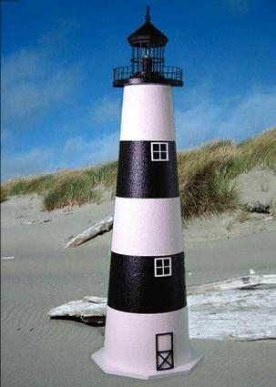 5 Foot Bodie Island E-Line Stucco Lighthouse