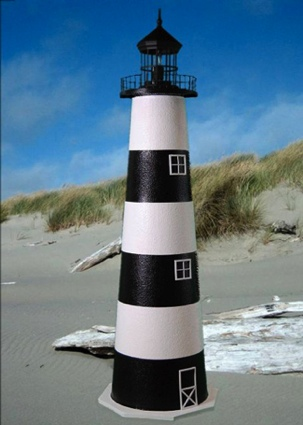 5 Foot Cape Canaveral E-Line Stucco Lighthouse