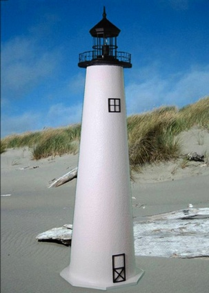 3 Foot Cape Cod E-Line Stucco Lighthouse