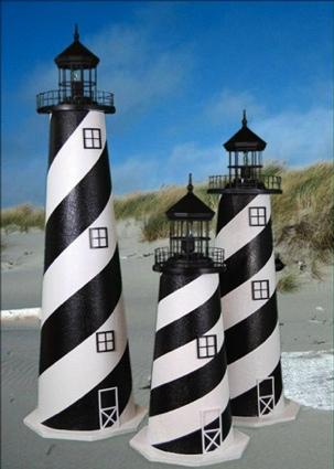 4 Foot Cape Hatteras E-Line Stucco Lighthouse