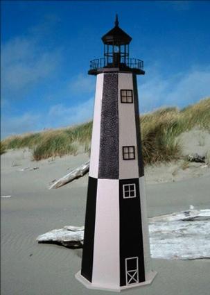 3 Foot Cape Henry E-Line Stucco Lighthouse