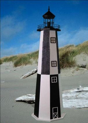 4 Foot Cape Henry E-Line Stucco Lighthouse