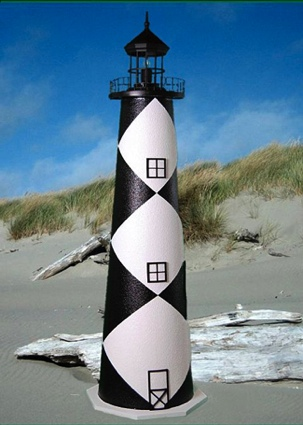 3 Foot Cape Lookout E-Line Stucco Lighthouse